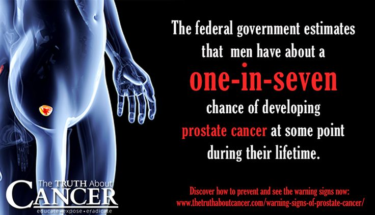1 in 7 men develop prostate cancer at some point in their lives. And guess what? It's highly preventable with the right lifestyle changes, and very treatable. Learn all about the warning signs and treatment options by reading on. Article by Ty Bollinger. Click through to read & please re-pin to help us educate others! // The Truth About Cancer