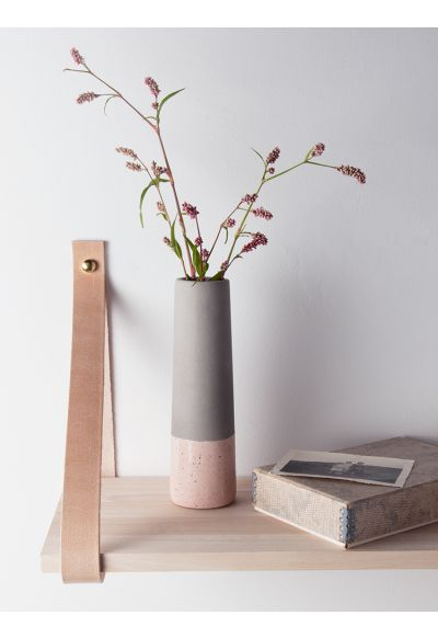 Dipped Concrete Vase - Blush - Indoor Living
