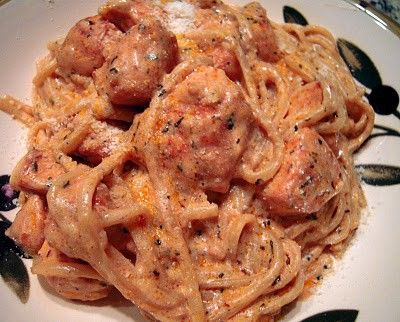 Creamy Cajun Chicken Pasta.  This was delish.  I used penne instead and put extra cajun spice in.  Probably could have used milk or half and half instead of heavy whipping cream.