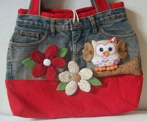 reciclar pantalon en bolso