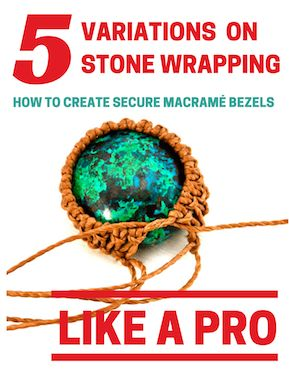 Stone Wrapping Macrame Bezel Tutorial for Micro-Macrame Jewelry                                                                                                                                                                                 More