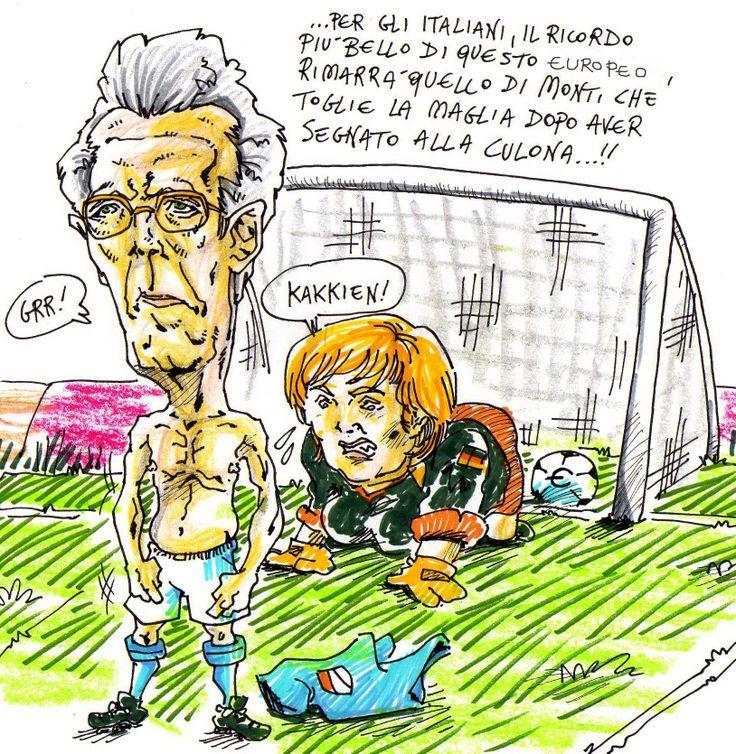 ..quando Monti segnò alla Merkel