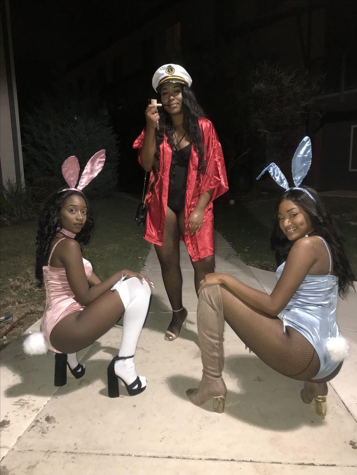 Playboy Bunny & Hugh Hefner Halloween Costume 2017