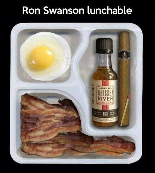 Ron Swanson's lunch…