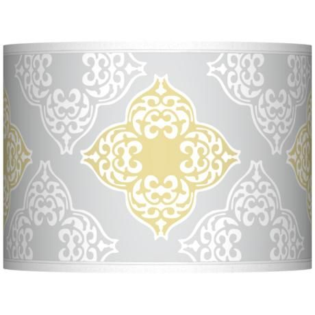 Aster Grey Giclee Glow Lamp Shade 13 5x13 5x10 Spider