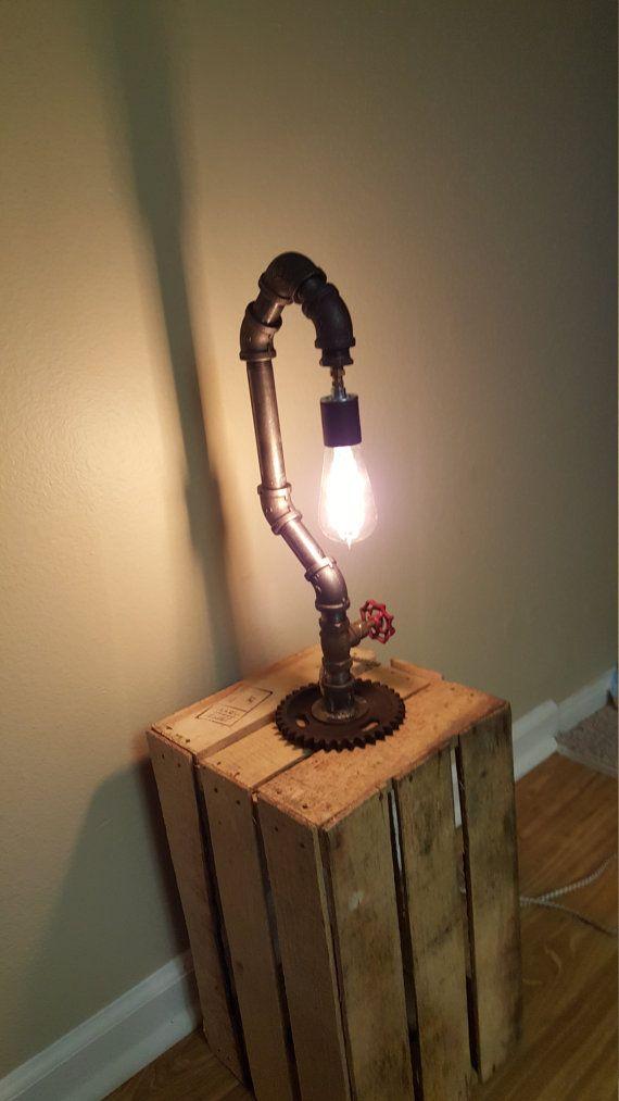 lampe tube steampunk par JMJmetal sur Etsy