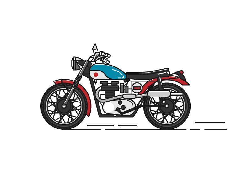 Moto Retro Motorbike Illustration Motorbike Art Motorcycle Illustration