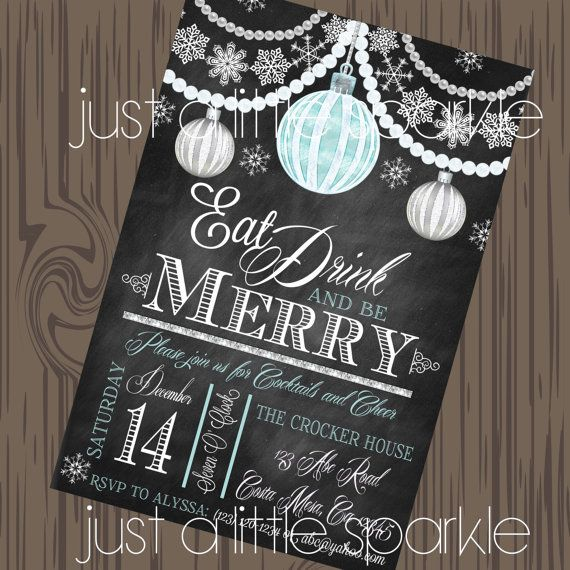30 best images about Christmas invitations – Diy Christmas Party Invitations