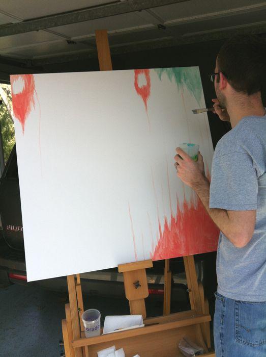 ikat drips painting tutorial