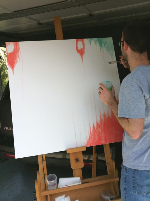 ikat drips painting tutorial