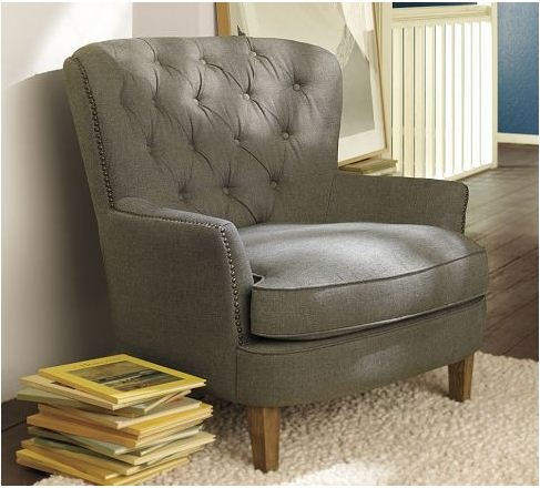 Cardiff Tufted Upholstered Armchair with Nailheads ...