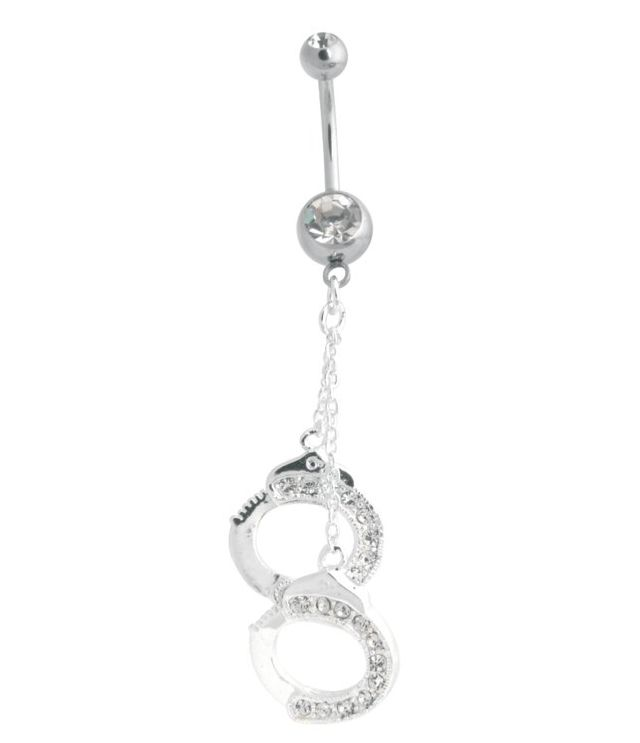 Nombril menottes et strass diamant