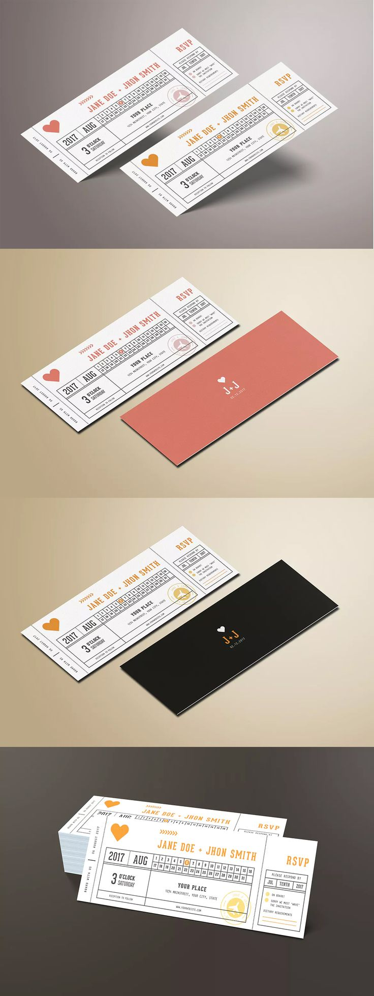 As 24 melhores imagens em wedding invitation card templates no pinterest wedding invitation ticket template ai psd stopboris Image collections