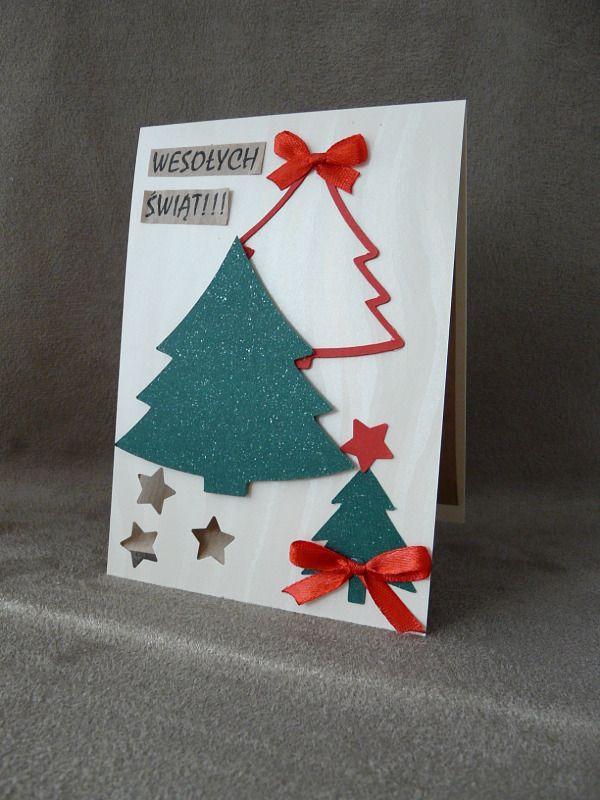 Kartka świąteczna z choinkami :) Ręcznie robione kartki z pięknymi życzeniami na pewno wzruszą niejednego adresata :) TopComicArt www.facebook.com/topcomicart