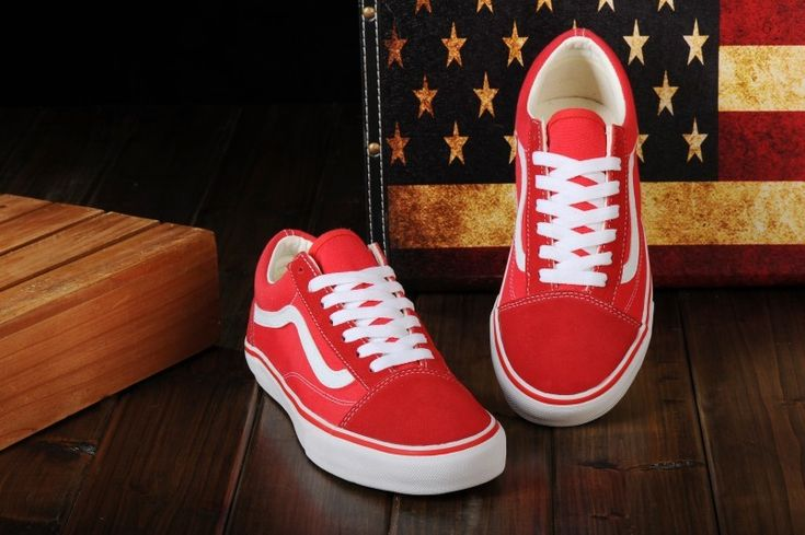 Vans Shoes Red White Original Old SKool Unisex Low