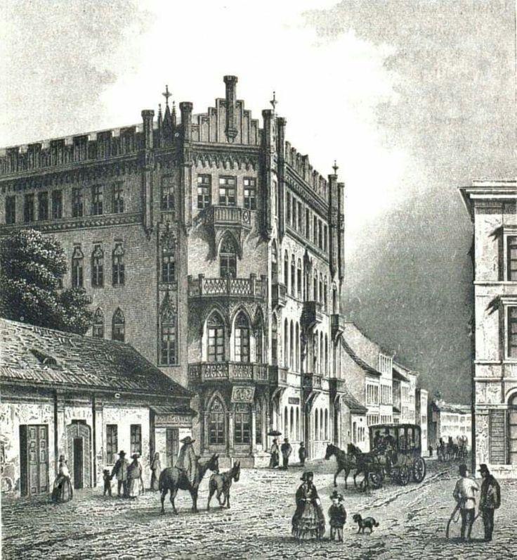 A Király utca - Csányi utca sarkán ma is álló Pekáry-ház 1850 körül. Történetéről, lakóiról az 1. hozzászólásnál lehet olvasni.