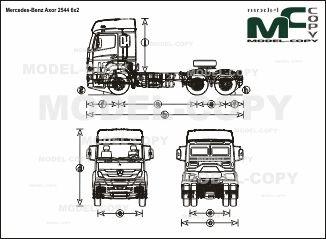 Mercedes-Benz Axor 2544 6x2 - drawing