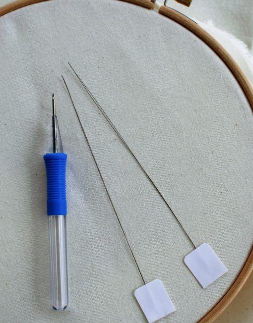 Aguja para punch needle o aguja mágica para bordado ruso
