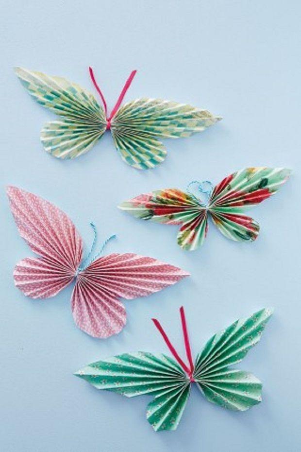 Farfalle di carta http://www.lovediy.it/farfalle-di-carta/ Graziose #farfalle decorative di #carta, realizzate con una tecnica semplice e veloce...