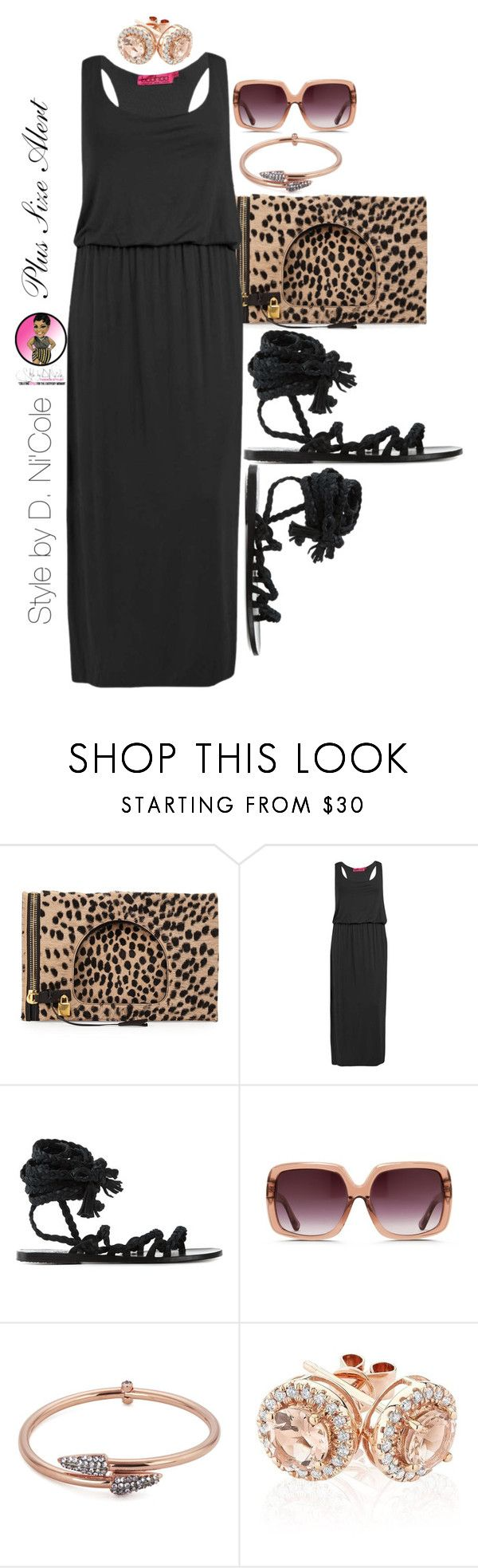 """Untitled #2400"" by stylebydnicole ❤ liked on Polyvore featuring Tom Ford, Boohoo, Ancient Greek Sandals, Matthew Williamson, Katie Rowland and Reeds Jewelers"