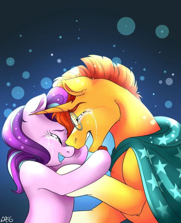 #1117490 - artist:dragonfoxgirl, crying, safe, shipping, spoiler:s06e01, spoiler:s06e02, starburst (pairing), starlight glimmer, straight, sunburst, the crystalling - Derpibooru - My Little Pony: Friendship is Magic Imageboard
