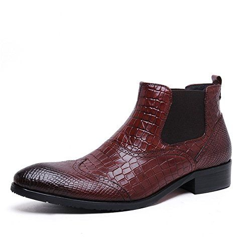 Zorgen Men's Chelsea Dress Wedding Formal Boots Embossed…