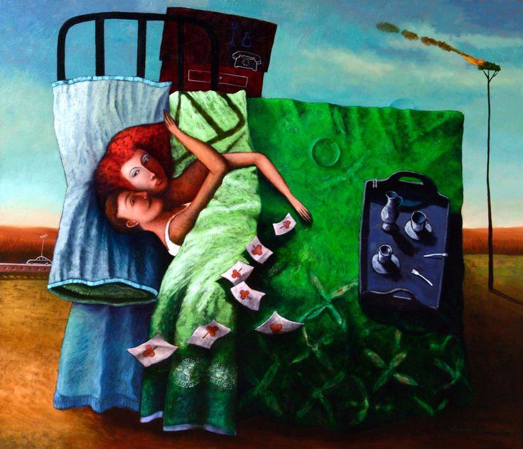 Te soñé en mi alcoba. óleo sobre lino. 130 X 150 Cms.