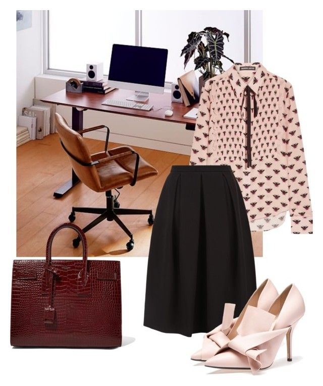 """""""Work mode #4"""" by mydreamingcloset ❤ liked on Polyvore featuring West Elm, Markus Lupfer, Monsoon, Yves Saint Laurent, WorkWear and women"""
