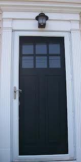 painted front door - Trim white to match storm door