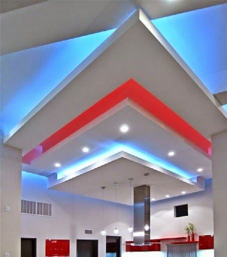False ceiling pop designs with LED ceiling lighting ideas for