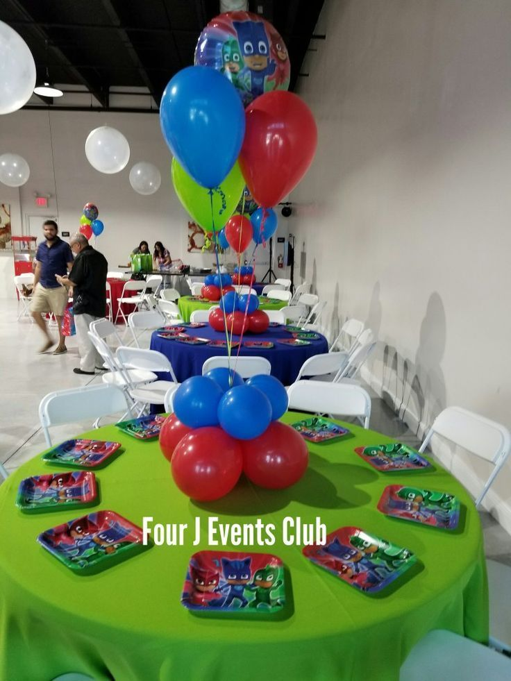 Pj Mask Decoration Indoor Party Place Www Fourjparty Com Fourjparty Decoration Balloons Miami Pj Masks Birthday Party Boys Pj Masks Birthday Party Pj Mask Decorations