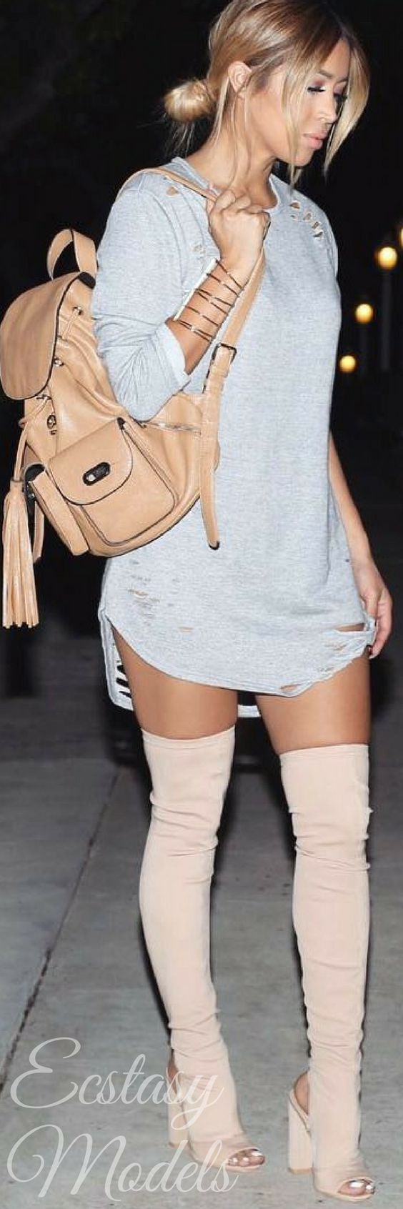 Thigh High Boots // Fashion Look by  jmaybelline_