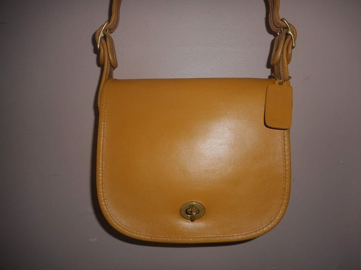 VINTAGE COACH Leather Crossbody/Shoulder Bag USA by COACHCROSSING on Etsy