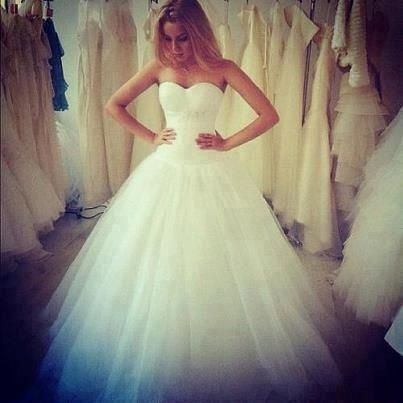 I found 'Strapless Wedding Dress' on Wish, check it out!