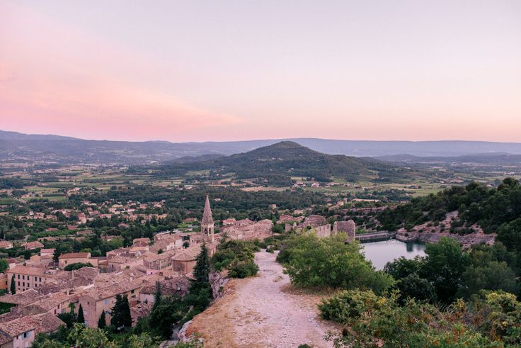 Over looking the town of Saint-Saturnin-lès-Apt in Provence, France.