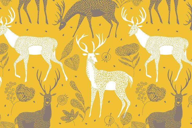 White Deer Wallpaper Wall Mural, custom made to suit your wall size by the UK's No.1 for wall murals. Custom design service and express delivery available.