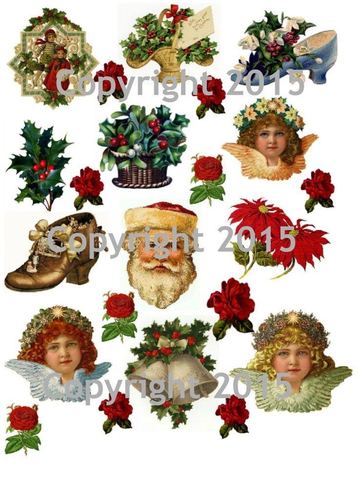 Vintage Christmas Collage Sheet  #101