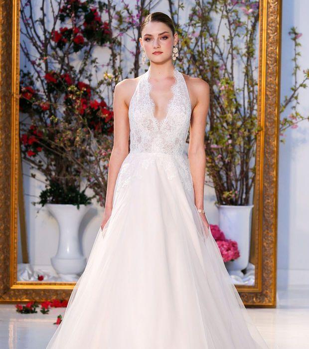 Robe de mariée 2017 - Anne Barge, robe princesse col halter neck