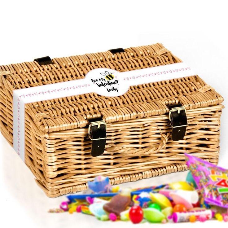 Bee My Valentine Personalised Sweet Hamper Gift Basket  | eBay