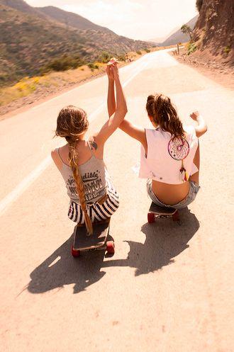 fun: The Roads, Best Friends, Bestfriends, Dreams Catcher, Bff, Friendship, Friends Pics, Longboards, Skateboard