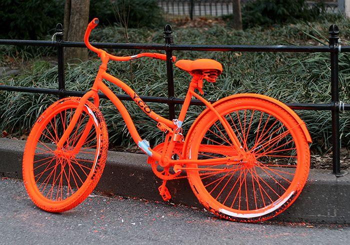 orange painted bike