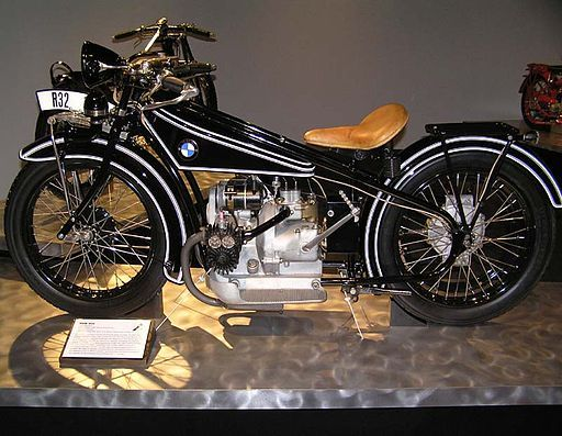 Celebrating 98 years of BMW   1923 BMW R32 Motorcycle by BMW Motorrad   Photo credit: Daniel Hartwig, via Wikimedia Commons   SF Moto Blog