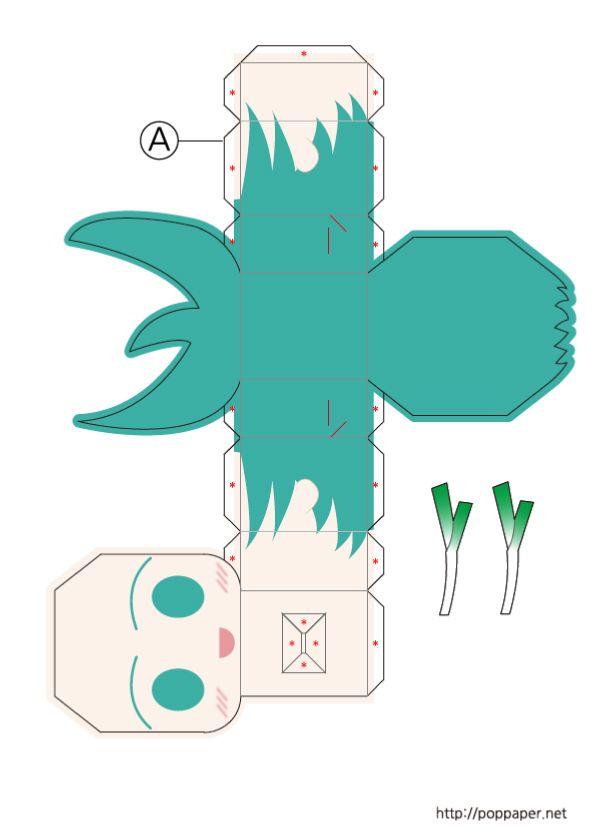 Salut les Kidz ! Aujourd'hui, voici un papertoy taillé pour les mangaka… Il s'agit d'un des personnages du programme Vocaloid, un logiciel qui permet à l'utilisateur de synthétiser du chant en entrant des paroles et une mélodie. Le résultat est…