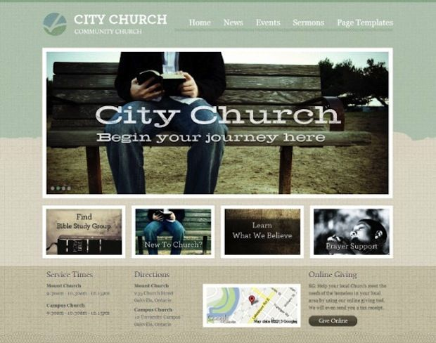 Amazing 10 Outstanding WordPress Themes For Church Websites