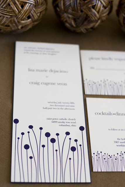 Baci Designer: Baci Designs | Lisa + Craigu0027s Custom Wedding Invitation  Suite {Columbus,