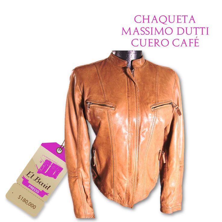 Chaqueta de Cuero Massimo Dutti un estilo  clásico, elegante y estudiado  $180,000  http://elbaul.co/Productos/235/Chaqueta-de-Cuero-Massimo-Dutti-caf%C3%A9--