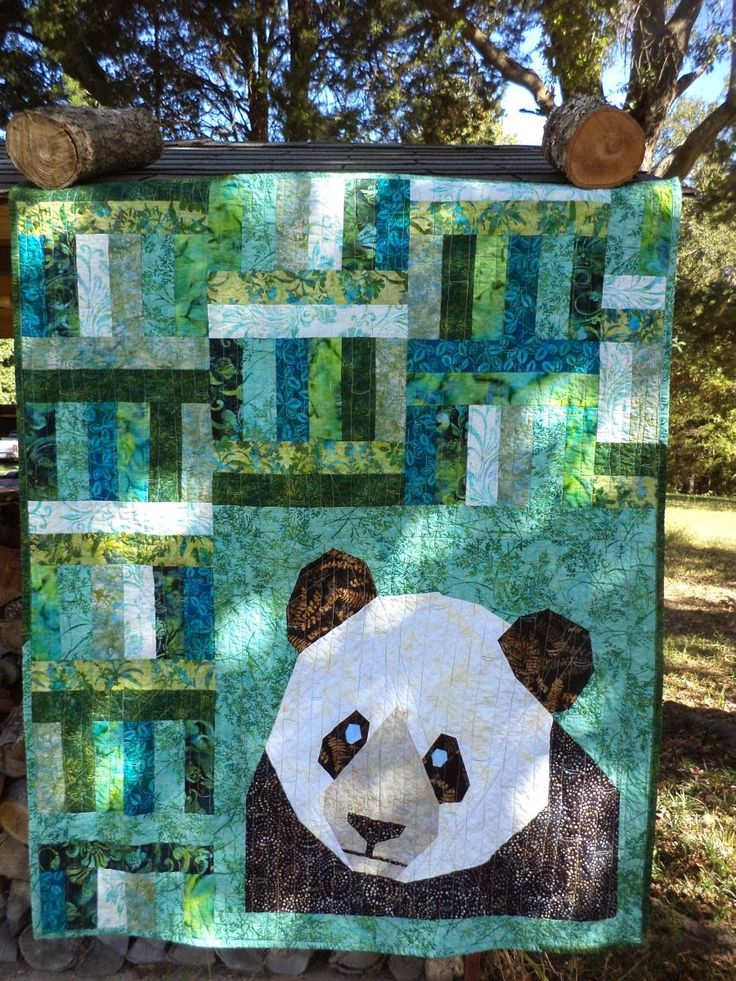 The Panda Quilt by Kat and Cat Quilts