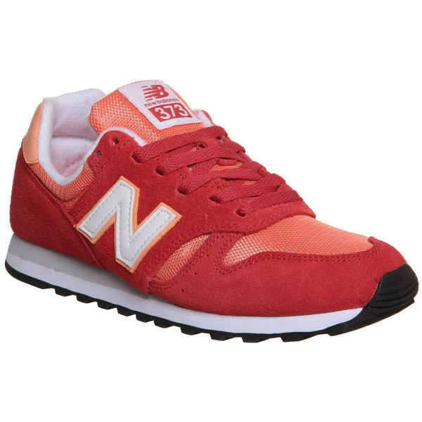 New Balance Wl373 Trainers ($43) ❤ liked on Polyvore featuring shoes, sneakers, frozen yogurt red orange, trainers, unisex sports, sport shoes, new balance footwear, sporting shoes, new balance and new balance sneakers