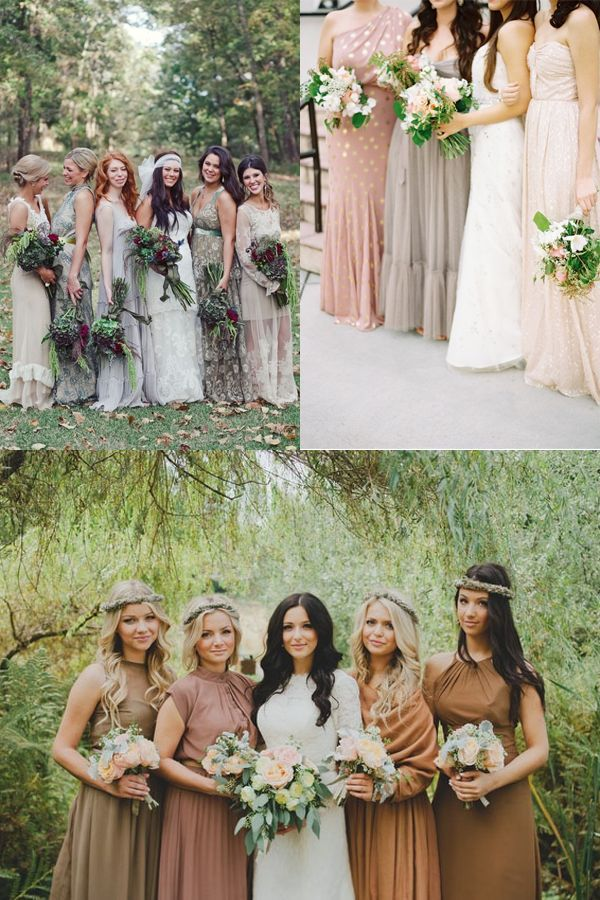You've seen the mis-matched bridesmaid dress trend, but have you seen… - Wedding Party