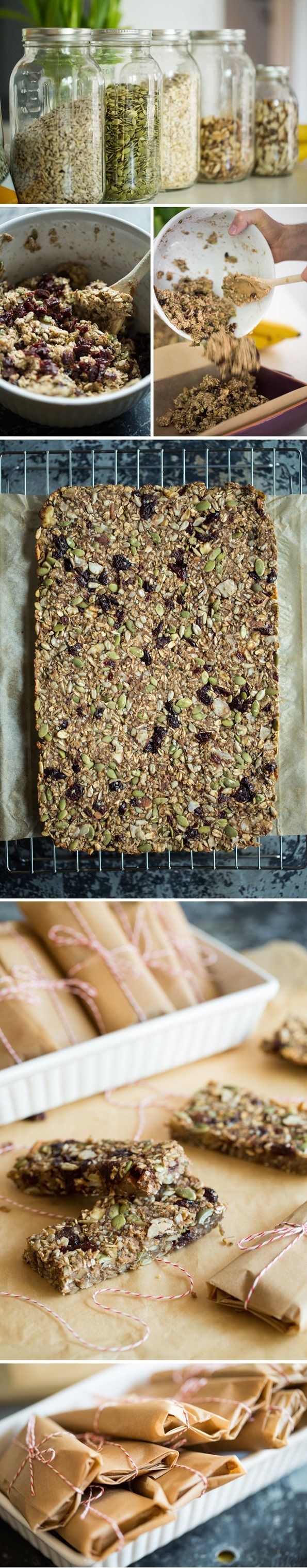 I'm in love with this Feel Good Heart Granola Bar recipe! Vegan, gluten-free, 6.6 grams of protein and almost 5 grams of fibre per bar. Great for on the go snacking. / Wholesome Foodie <3